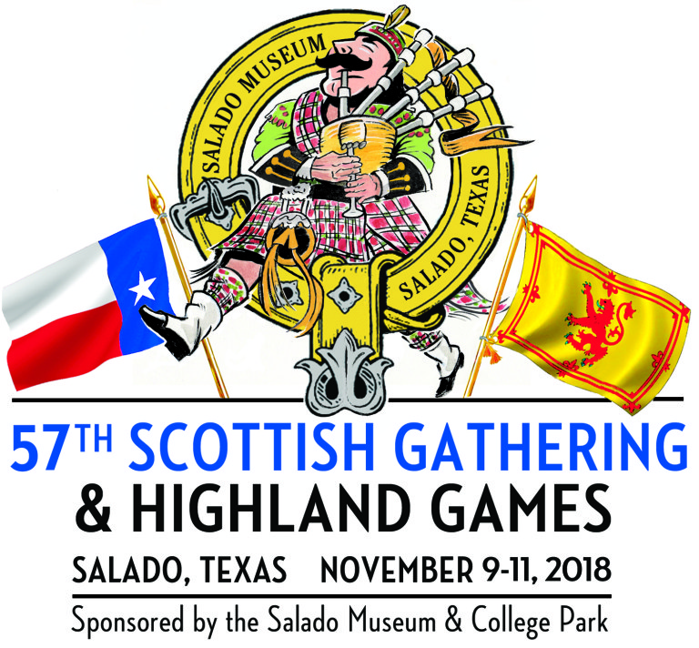 Logo for the Salado Museum 57th Annual Scottish Gathering and Highland Games